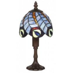 Lampe de chevet Paon bleu