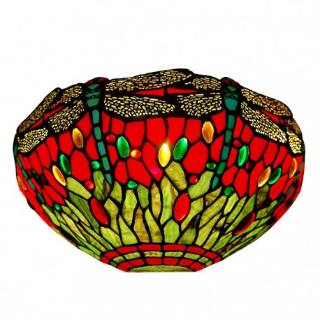 Dragonfly red wall lamp
