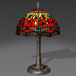 Lampe de chevet Libellule rouge