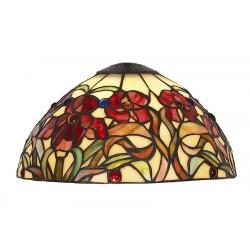 Red Iris Art-nouveau lampshade