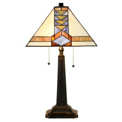 Lampe de table Tiffany Pyramide