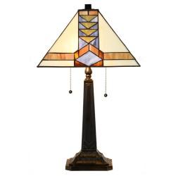 Tiffany Table Lamp Pyramid