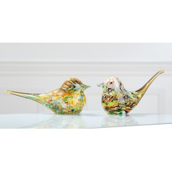 Presse papier oiseau en verre